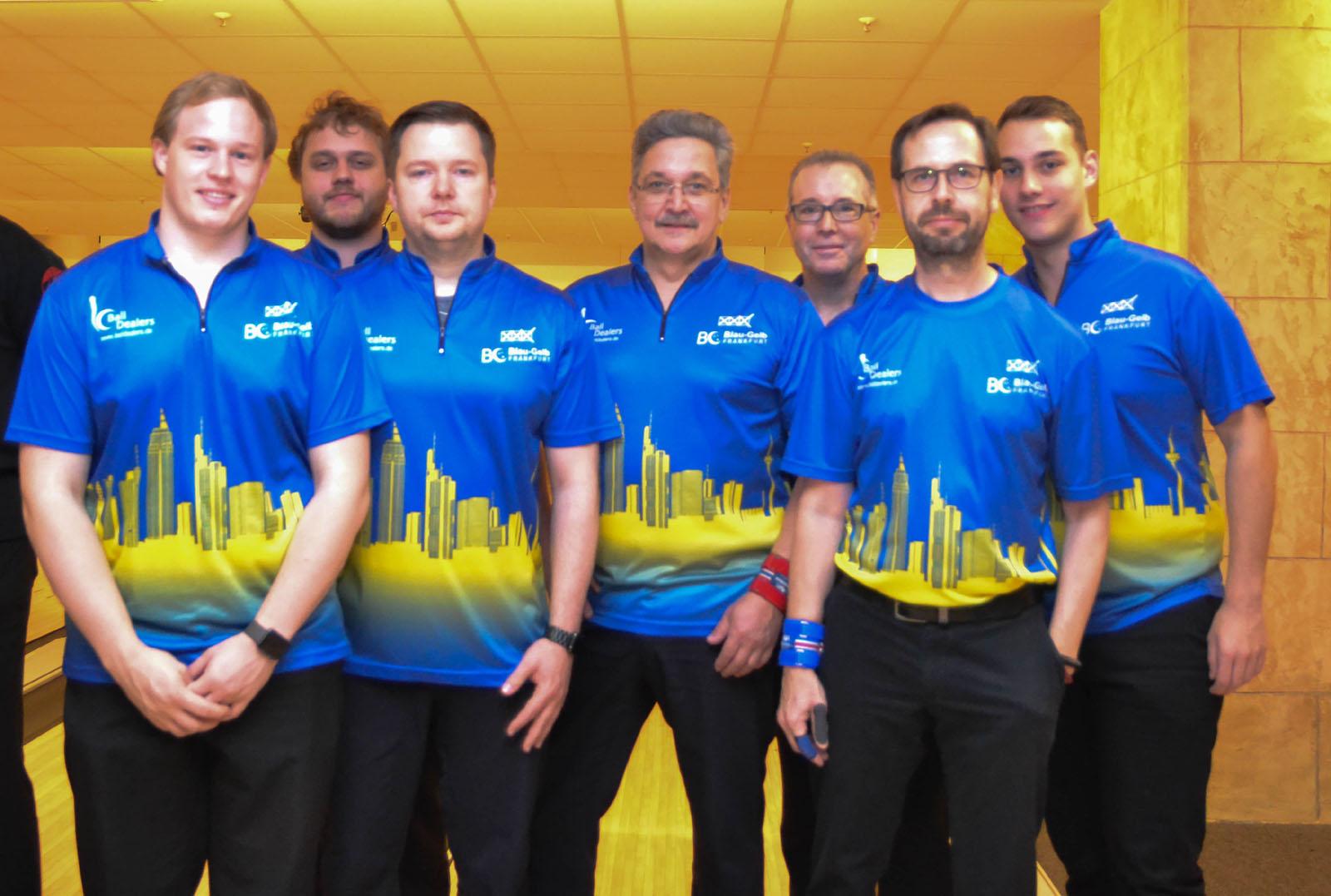 Team Herren 1: Mike, Philipp, Karsten, Bernd, Dale, Frank, Sven (v.l.)