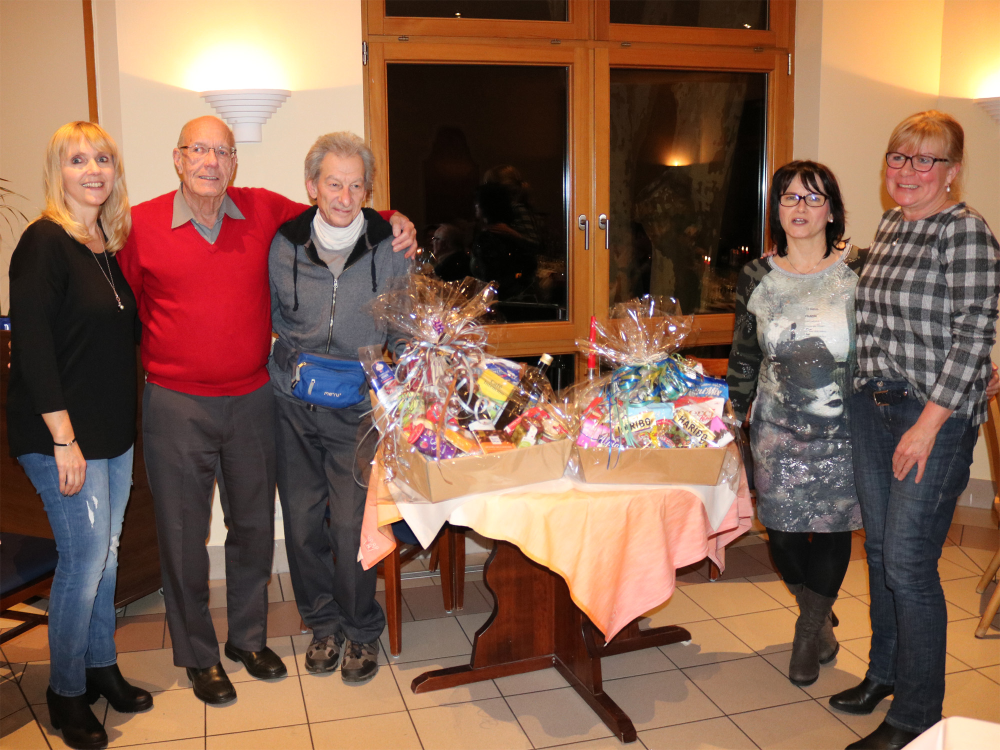 Britta, Edith, Klaus und Vern feierten in 2017 einen runden Geburtstag