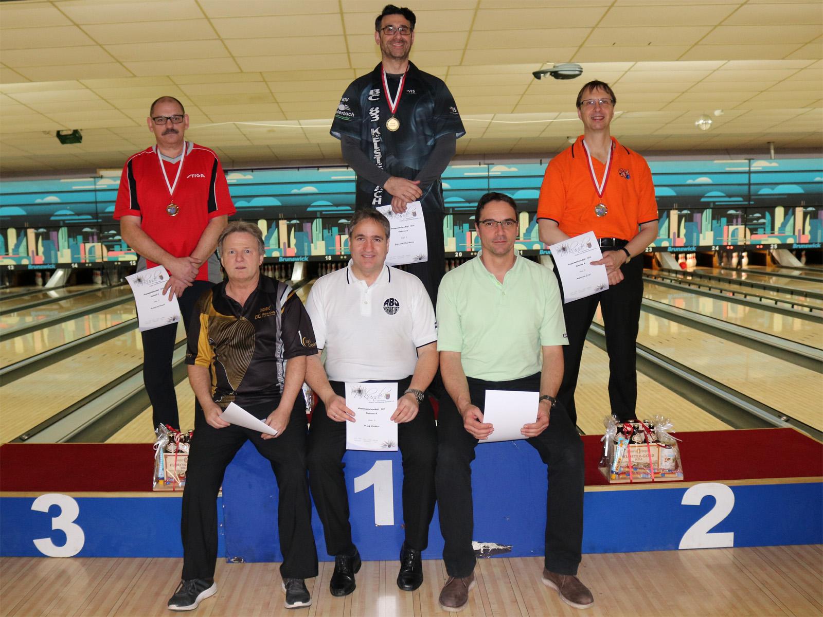 Klaus Reitze - Platz 5 Senioren A (u.l.)