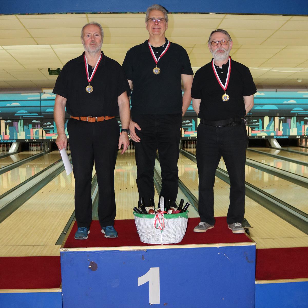 Senioren B: Platz 1 - Werner Laun, Hans-Jürgen Naumann, Kurt Geretshauser