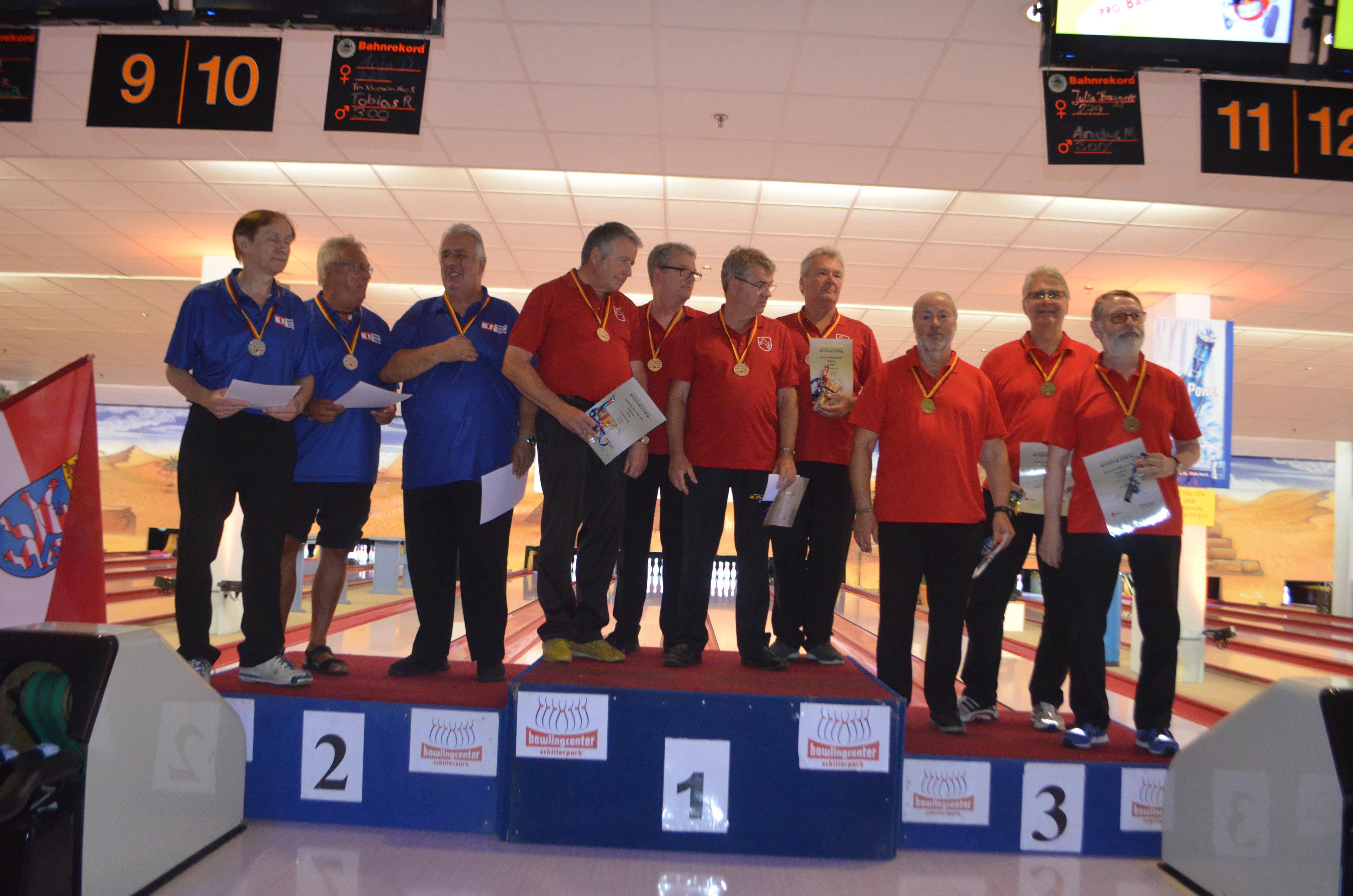 Platz 3 für Seniorentrio B: Hans-Jürgen Naumann, Werner Laun und Kurt Geretshauser