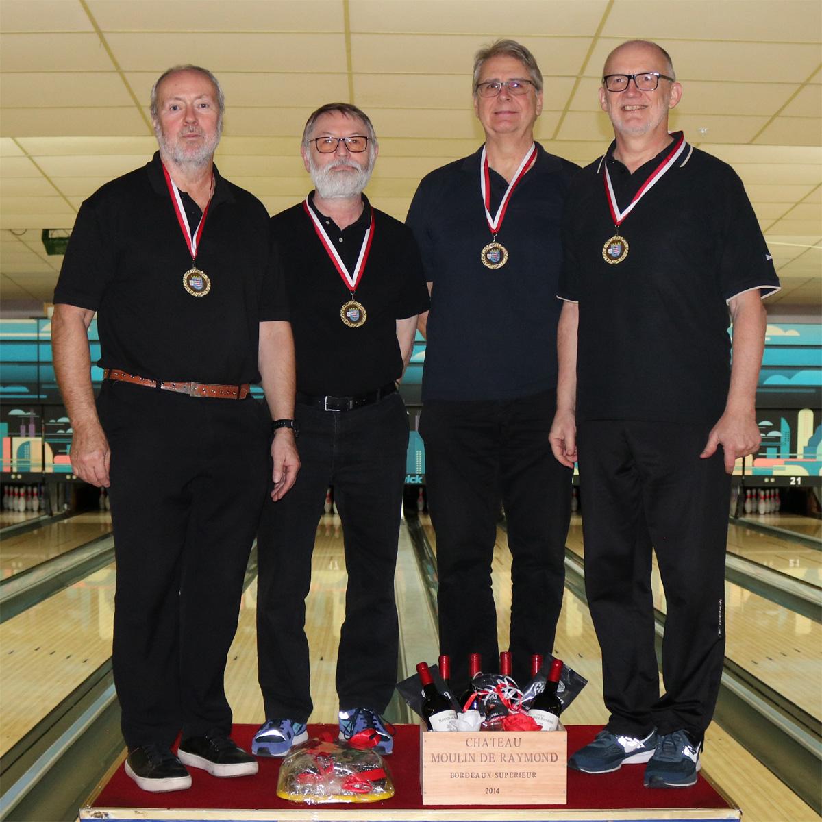 Platz 1 - Hessenmeister: Werner, Kurt, Hans-Jürgen und Rolf