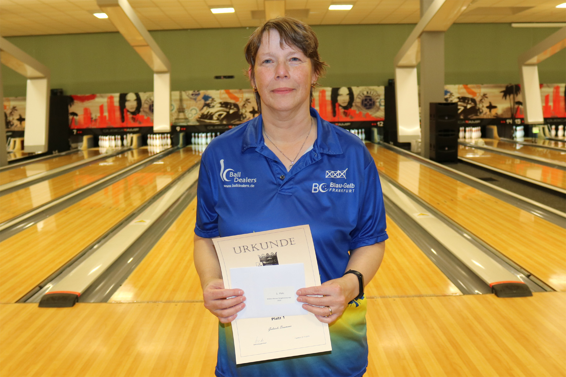 Platz 1 Damen AB: Gabi Baumann