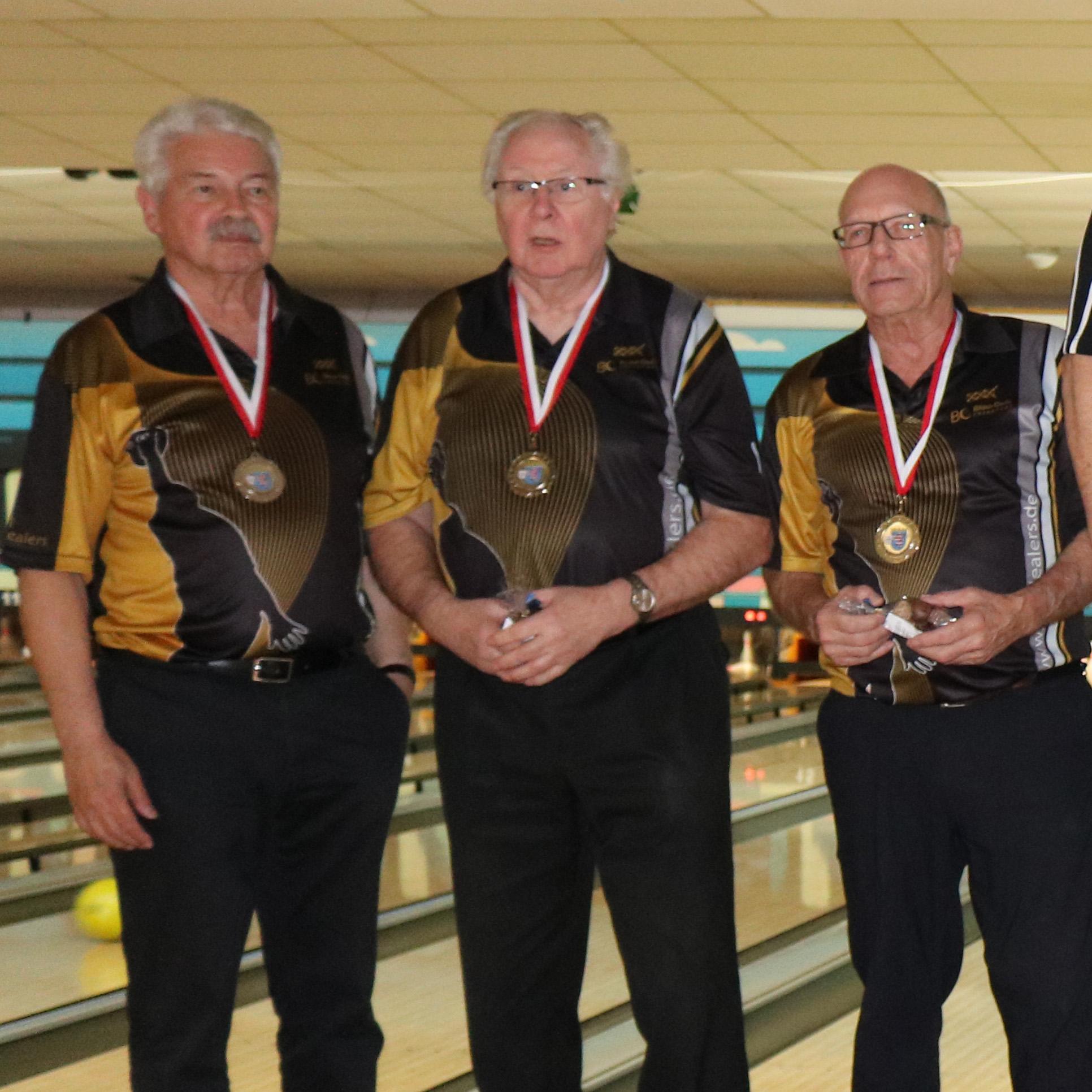 Platz 2 Senioren C: Volker, Norbert und Vern (v.l.)