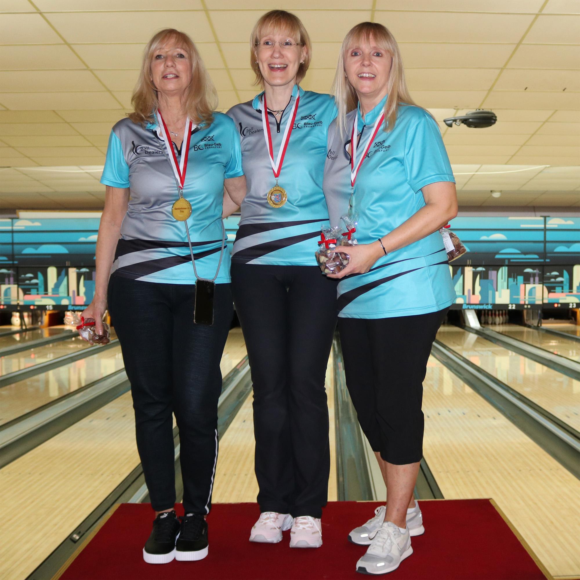 Siegerinnen Seniorinnen A: Brigitte, Uta und Petra (v.l. - Angela fehlt auf dem Bild)
