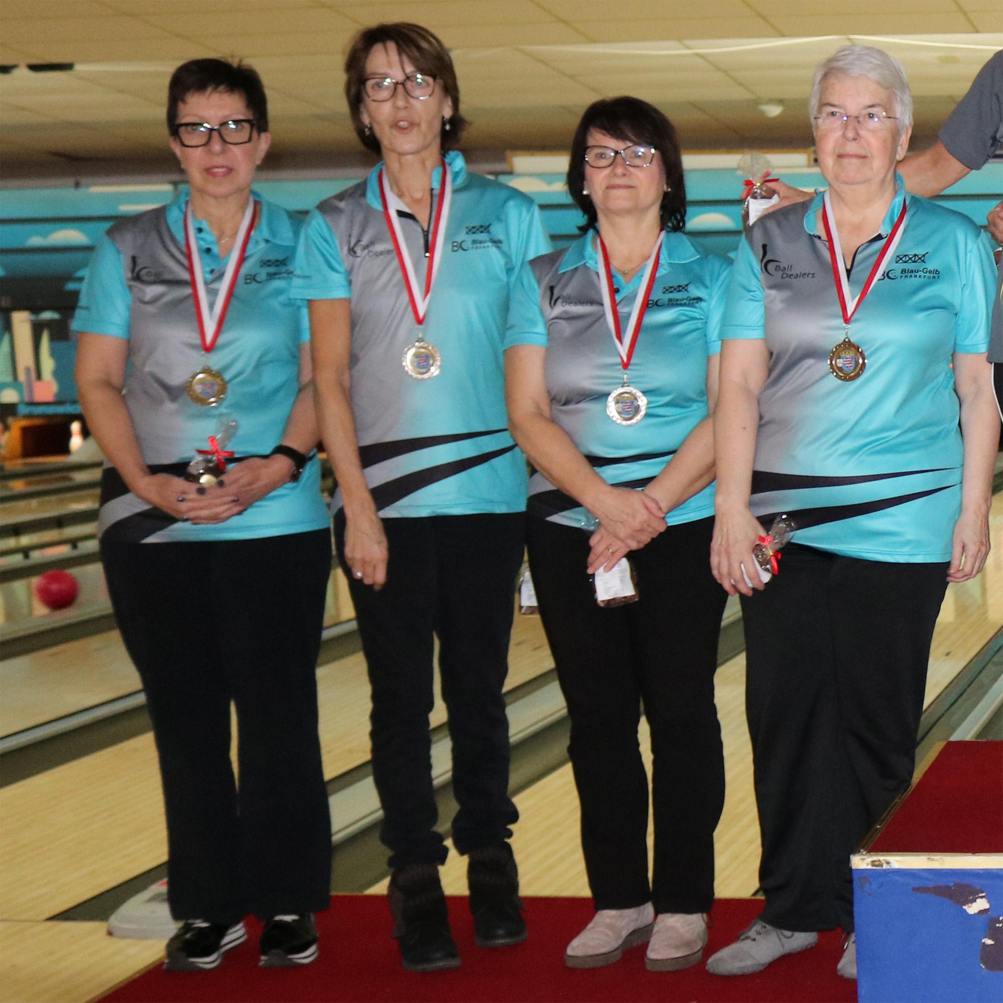 Platz 2 Seniorinnen B: Petra, Geli, Edith und Petra (v.l.)