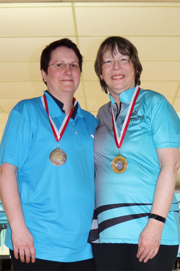 Hessenmeisterin Versehrte Damen: Gabi Baumann (zusammen mit Platz 2: Melanie Simonsen-Caldwell)